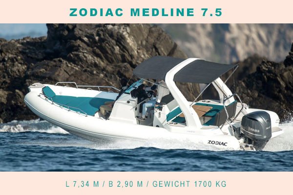 Zodiac Medline 7.5 bei Gründl Bootsimport